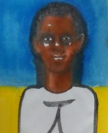 15 Кубинская девочка. 2011 б акр 60х40