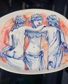 1Три грации 2017 керамика, подглазурная росписьD21