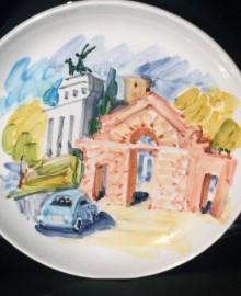 2 Рим 2017 керамика, подглазурная росписьD21