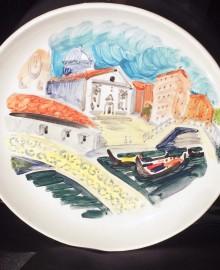 4 Трафик на канале.Венеция  2017 керамика, подглазурная роспись D21