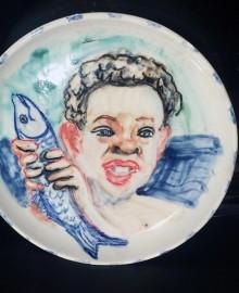 5 Улов 2010 керамика, подглазурная росписьD21